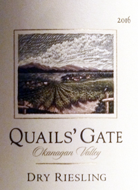 Quails' Gate Dry Riesling