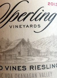 Sperling Vineyards Old Vines Rieslingtext