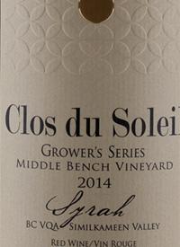 Clos du Soleil Grower's Series Syrah Middle Bench Vineyardtext