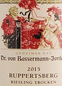Dr. von Bassermann-Jordan Ruppertsberg Riesling Trockentext