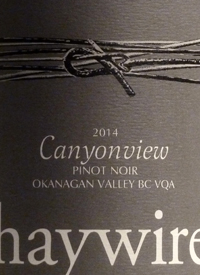 Haywire Pinot Noir Canyonview Vineyardtext
