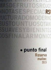Punto Final Malbec Reservatext