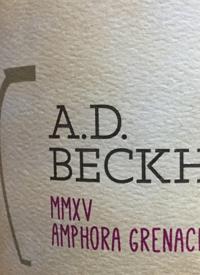 A.D. Beckham MMXV Amphora Grenachetext