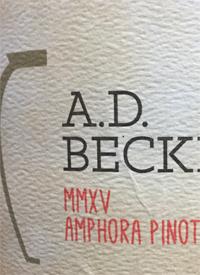 A.D. Beckham MMXV Lignum Amphora Pinot Noirtext