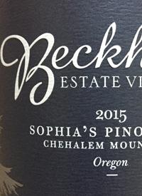Beckham Estate Vineyard  Sophia's Pinot Noirtext