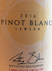 Anthony Buchanan Pinot Blanc Lawsontext