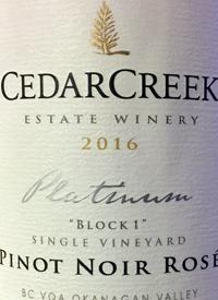 CedarCreek Platinum Block One Pinot Noir Rosétext