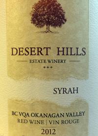 Desert Hills Syrah Three Boys Vineyardtext