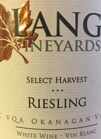 Lang Vineyards Select Harvest Rieslingtext