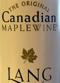 Lang Vineyards The Original Maple Wine Whitetext