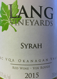 Lang Vineyards Syrahtext