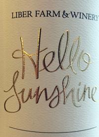 Liber Farm and Winery Hello Sunshinetext