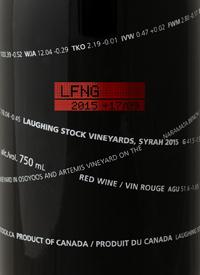 Laughing Stock Vineyards Syrah +17/09text