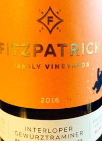 Fitzpatrick Family Vineyards Interloper Gewurztraminertext