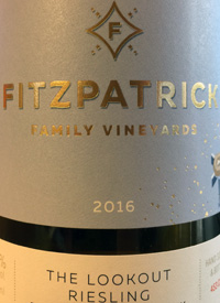Fitzpatrick Family Vineyards The Lookout Rieslingtext