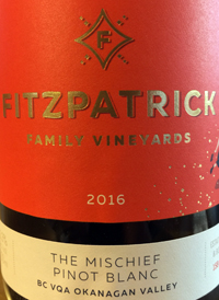Fitzpatrick Family Vineyards The Mischief Pinot Blanctext