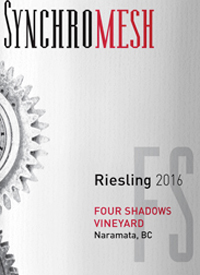 Synchromesh Wines Four Shadows Vineyard Rieslingtext