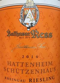 Balthasar Ress Hattenheimer Schützenhaus Riesling Kabinetttext