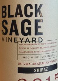 Black Sage Vineyard Shiraztext