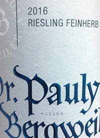 Dr. Pauly-Bergweiler Riesling Feinherbtext