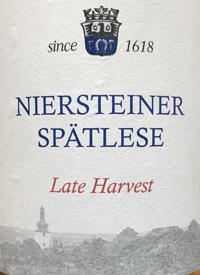 Gustav Adolf Schmitt Niersteiner Riesling Spätlese Late Harvesttext