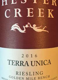 Hester Creek Terra Unica Rieslingtext