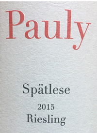 Pauly Lieserer Riesling Spatlesetext