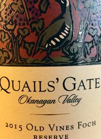 Quails' Gate Old Vines Foch Reservetext