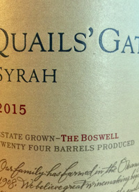 Quails' Gate Syrah The Boswell
