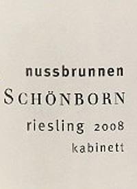Schloss Schönborn Hattenheim Nussbrunnen Riesling Kabinetttext