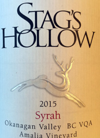 Stag's Hollow Syrahtext
