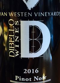 Van Westen Vineyards Di Bello Wines VD Pinot Noirtext