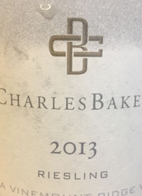 Charles Baker Riesling Picone Vineyardtext