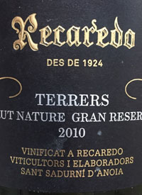 Recaredo Terrers Brut Nature Gran Reservatext
