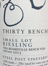 Thirty Bench Small Lot Riesling Steel Post Vineyardtext