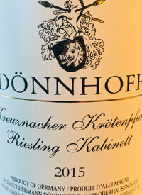 Dönnhoff Kreuznacher Krotenpfuhl Riesling Kabinetttext