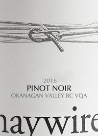 Haywire White Label Pinot Noir