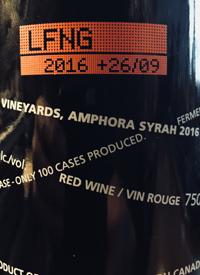 Laughing Stock Vineyards Amphora Syrah +26/09text