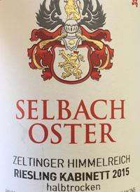 Selbach-Oster Riesling Zeltinger Himmelreich Riesling Kabinett Halbtrockentext