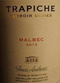Trapiche Terroir Series Finca Ambrosia Malbectext