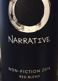 Narrative  Non-Fiction Red Blend by Okanagan Crush Padtext