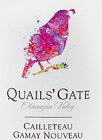 Quails' Gate Cailleteau Gamay Nouveauxtext