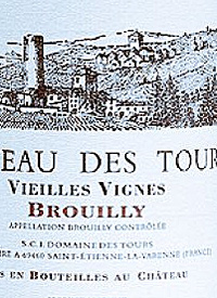 Chateau des Tours Vieilles Vignes Brouillytext