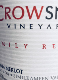 Crowsnest Family Reserve Merlottext