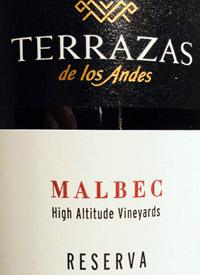 Terrazas De Los Andes Malbec Reserva 2015 Tasting Note