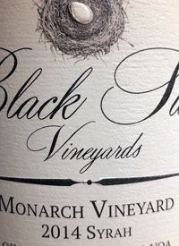 Black Swift Vineyards Monarch Vineyard Syrahtext
