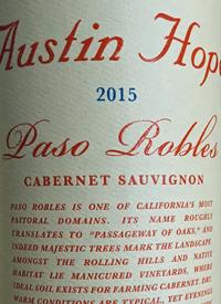 Austin Hope Cabernet Sauvignon 2015 Tasting Note Gismondi On Wine