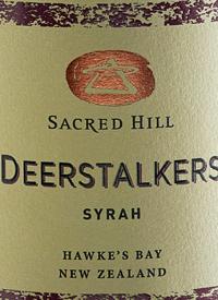 Sacred Hill Deerstalkers Syrahtext