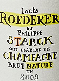 Louis Roederer et Philippe Starck Champagne Brut Naturetext