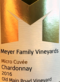 Meyer Family Vineyards Chardonnay Micro Cuvée Old Main Road Vineyard